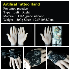 Practice tattoo hand artifical tattoo hand silicone tattoo hand